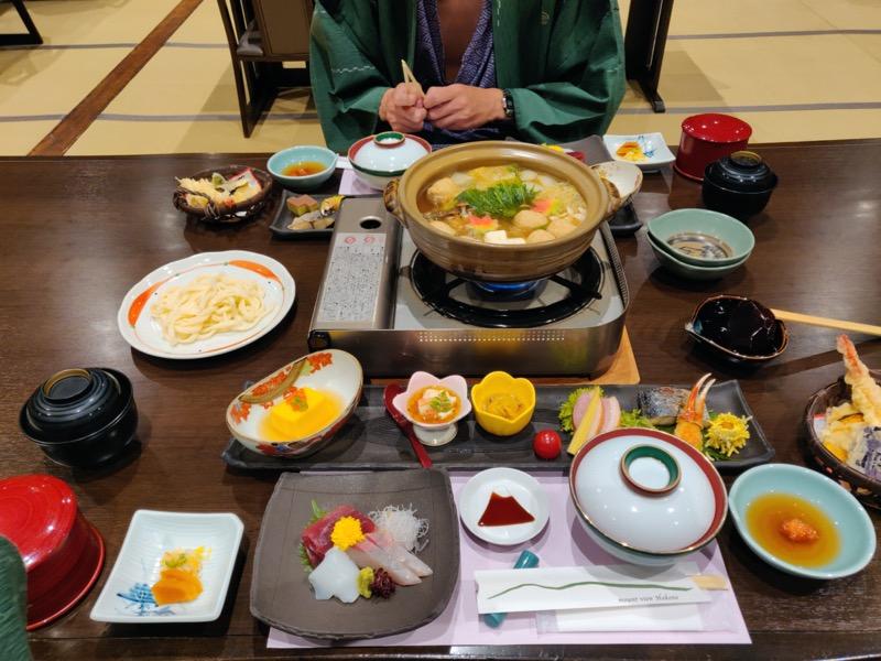 Repas japonais hôtel Mount View hakone
